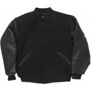 Black & Black Standard Letterman Jacket