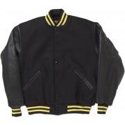 Black & Gold Standard Letterman Jacket