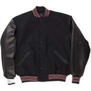 Black, Red & White Standard Letterman Jacket