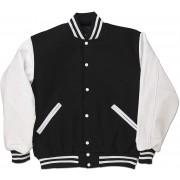 Black & White Standard Letterman Jacket