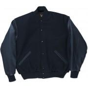 Navy & Navy Standard Letterman Jacket