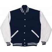 Navy & White Standard Letterman Jacket