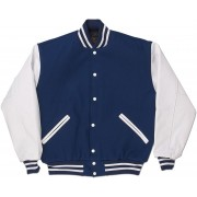 Royal Blue & White Standard Letterman Jacket
