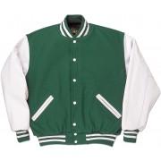 Green & White Standard Letterman Jacket