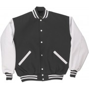Grey & White Standard Letterman Jacket