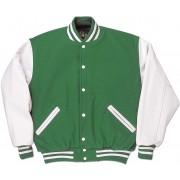 Kelly Green & White Standard Letterman Jacket