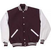 Maroon & White Standard Letterman Jacket