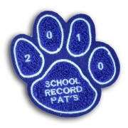 Single Felt Paw Patch with Embroidery