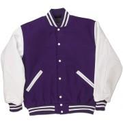 Purple & White Standard Letterman Jacket