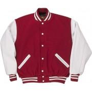Red & White Standard Letterman Jacket