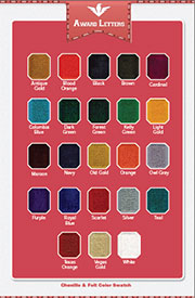 Chenille Color Swatch