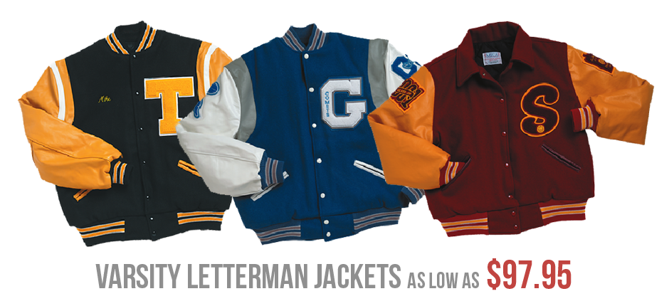Varsity Letterman Jackets, Chenille Patches & Apparel